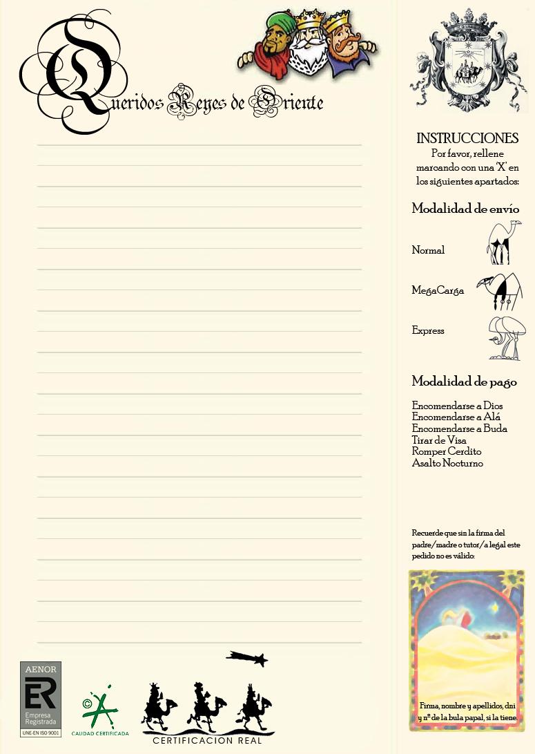 La carta a los Reyes Magos  Camyna AsesoraConsultoraweb 20