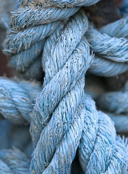 cuerda gruesa de esparto camo u otras fibras vegetales o sintticas