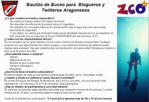 bautizo de agua bloggers de Zaragoza