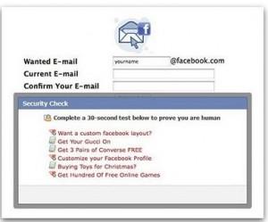 aplicación falsa correo facebook